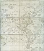 Early 18th century map of Western Hemisphere Kuvituskuvat