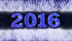 2016, New Year, Disco Dance Background, Loop, 4k Stock Footage