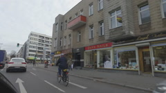 Streets of Berlin, City Center in Berlin, Germany. Stock Footage
