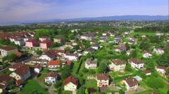 4K aerial shot - residential zone - Houses, buildings, gardens - stock footage