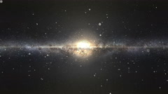 Universe Galaxy Inside - stock footage