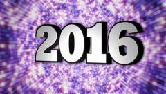 Stock Video Footage of 2016, New Year, Disco Dance Tunnel, Rotation Text, Loop, 4k