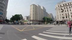 Ipiranga Avenue in Sao Paulo Stock Footage