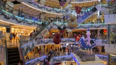 Christmas decoration in thai shopping mall,Bangkok,Thailand Stock Footage