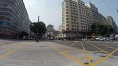 Ipiranga Avenue intersection in Sao Paulo Stock Footage