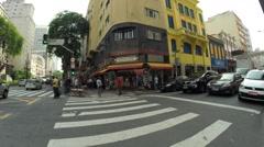 Santa Efigenia Street of sao Paulo Stock Footage