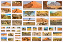 Namibia pictures collage - stock photo