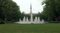 Southern College Campus Fountain Stock Footage