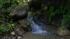 Small water fall in Haiti - stock footage