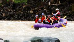Whitewater River Rafting On Pastaza River - stock footage