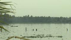 Life in the Backwaters of Kerala - stock footage
