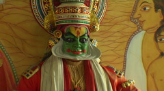 A Mural of a Kathakali Dancer Stock Footage