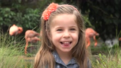 Stock Video Footage of Female Toddler Acting Silly