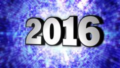 2016, New Year, Disco Dance Tunnel, Rotation Text, Loop, 4k Stock Footage