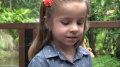 Toddler Receives Gift of Flowers Stock Footage