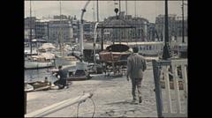 Vintage 16mm film, 1960, France, Marseilles harbor #2 - stock footage