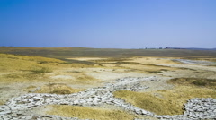 Valley Of Mud Volcanoes Near Kerch, Crimea Stock Footage