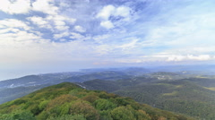 The view from the lookout tower on mount Akhun timelapse, Khosta district, Sochi - stock footage