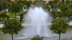Fountain and Garden at Versailles Stock Footage