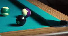 Pool pocket shot in full 4K Stock Footage