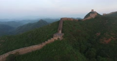 Aerial view Of Great Wall Stock Footage