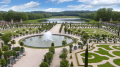 Versailles Park and Gardens, France Stock Footage
