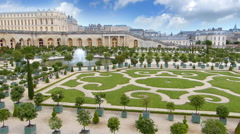 The Palace of Versailles and Garden, France Stock Footage