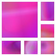 Magenta abstract background design set Stock Illustration
