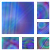 Blue colorful gradient abstract background set - stock illustration