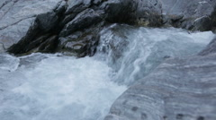 River flow in mountains slowmotion Stock Footage
