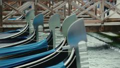 Scenery with Gondolas in Venice, Italy Stock Footage