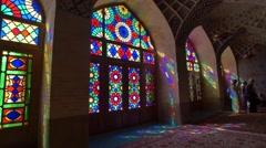 Nasir Al-Mulk Mosque window light Stock Footage