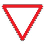 Give way sign Stock Illustration