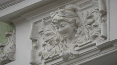 Bas-relief on a building in Brasov Stock Footage