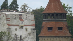 Stock Video Footage of Black Church tower and the White Tower, Brasov