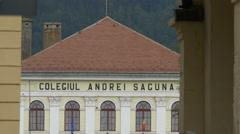 Andrei Saguna high school in Brasov Stock Footage