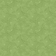 Green seamless curved shape pattern background - stock illustration