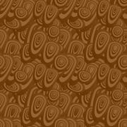 Brown seamless oval pattern background Stock Illustration