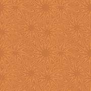 Copper seamless curved star pattern background - stock illustration