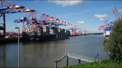 Timelapse im Hamburger Hafen - stock footage