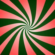 Red green twirl design Stock Illustration