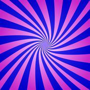 Magenta blue spiral background - stock illustration