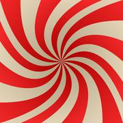 Red and beige abstract twirl background - stock illustration