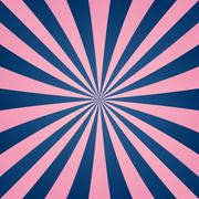 Pink blue ray burst background Stock Illustration