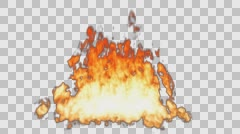 Realistic HD Fire Effects VFX  HD Alpha Loop - stock footage