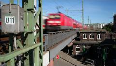 Timelapse, Bahn, Train Stock Footage