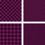 Purple simple geometric shape wallpaper set - stock illustration