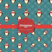 Set of vector christmas seamless patterns for xmas cards and gift wrapping paper Stock Illustration