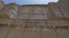 Persepolis royal tombs Stock Footage
