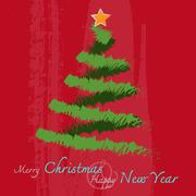 Christmas and new year Greeting Card Stock Illustration